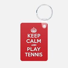 Keep Calm Play Tennis Keychains