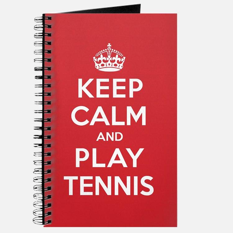Keep Calm Play Tennis Journal