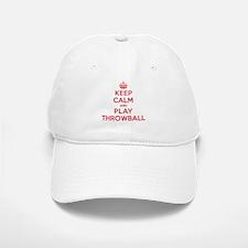 Keep Calm Play Throwball Baseball Baseball Cap