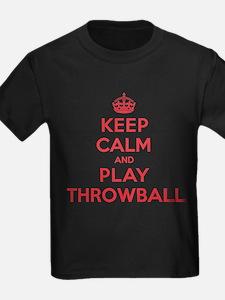 Keep Calm Play Throwball T