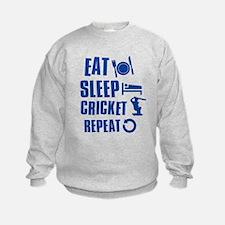 Eat Sleep Cricket Sweatshirt