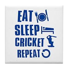 Eat Sleep Cricket Tile Coaster