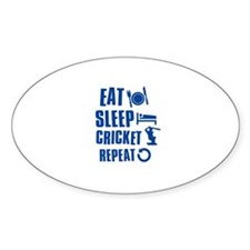 Eat Sleep Cricket Decal