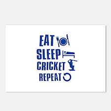 Eat Sleep Cricket Postcards (Package of 8)