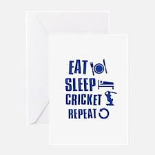 Eat Sleep Cricket Greeting Card