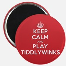 """Keep Calm Play Tiddlywinks 2.25"""" Magnet (10 pack)"""