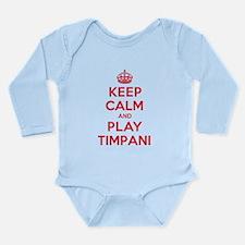 Keep Calm Play Timpani Long Sleeve Infant Bodysuit