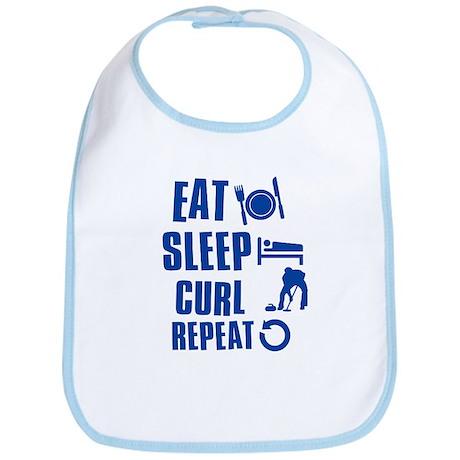 Eat Sleep Curl Bib