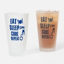 Eat Sleep Curl Drinking Glass