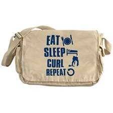 Eat Sleep Curl Messenger Bag