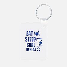Eat Sleep Curl Keychains