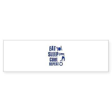 Eat Sleep Curl Sticker (Bumper)
