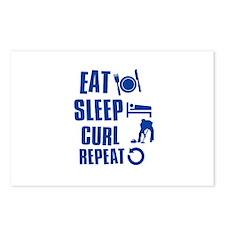 Eat Sleep Curl Postcards (Package of 8)