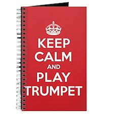 Keep Calm Play Trumpet Journal