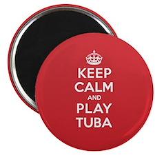 Keep Calm Play Tuba Magnet