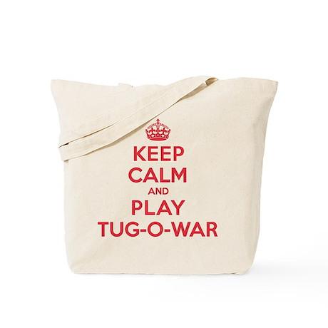 Keep Calm Play Tug-O-War Tote Bag