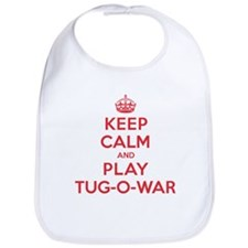 Keep Calm Play Tug-O-War Bib