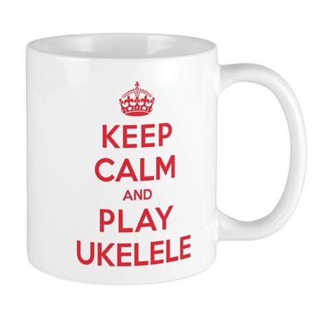 Keep Calm Play Ukelele Mug