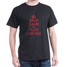 Keep Calm Play Ukelele T-Shirt
