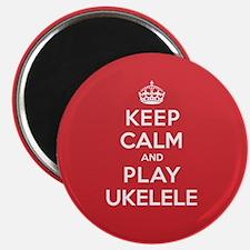 "Keep Calm Play Ukelele 2.25"" Magnet (10 pack)"