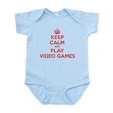 Keep Calm Play Video Games Onesie
