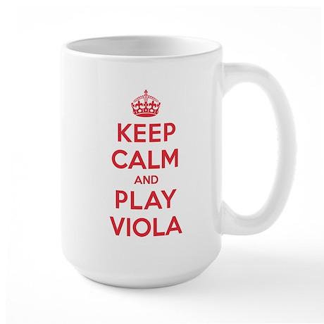 Keep Calm Play Viola Large Mug