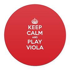 Keep Calm Play Viola Round Car Magnet