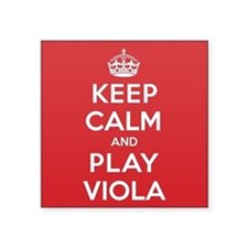 "Keep Calm Play Viola Square Sticker 3"" x 3"""