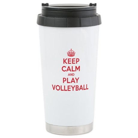 Keep Calm Play Volleyball Stainless Steel Travel M