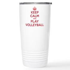 Keep Calm Play Volleyball Travel Mug
