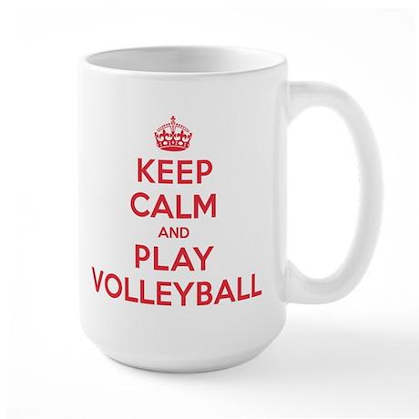 Keep Calm Play Volleyball Large Mug