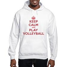 Keep Calm Play Volleyball Hoodie Sweatshirt