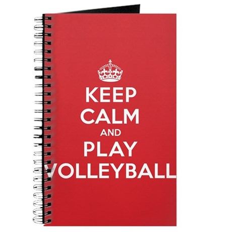 Keep Calm Play Volleyball Journal