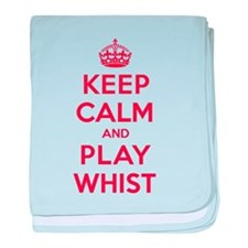 Keep Calm Play Whist baby blanket