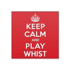 """Keep Calm Play Whist Square Sticker 3"""" x 3"""""""