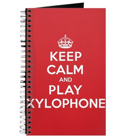 Keep Calm Play Xylophone Journal