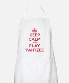 Keep Calm Play Yahtzee Apron