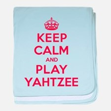 Keep Calm Play Yahtzee baby blanket