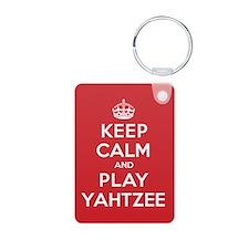 Keep Calm Play Yahtzee Keychains