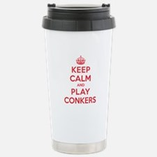 Keep Calm Play Conkers Travel Mug