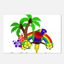 Ring of Fire Parrot Postcards (Package of 8)