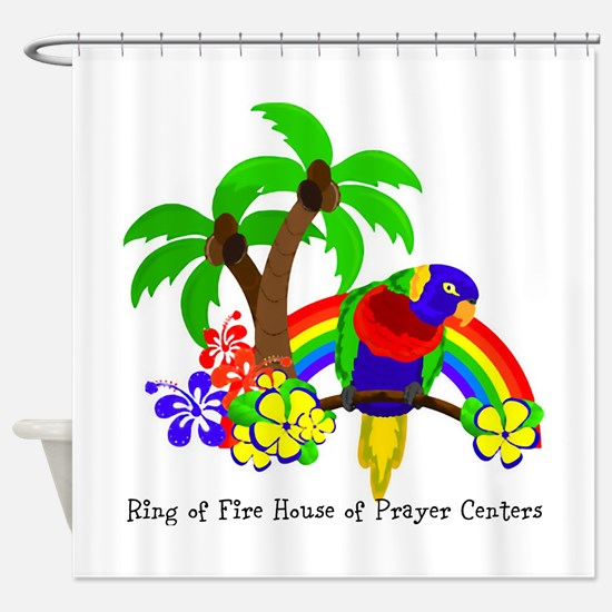 Ring of Fire Parrot Shower Curtain