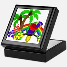 Ring of Fire Parrot Keepsake Box
