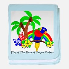 Ring of Fire Parrot baby blanket