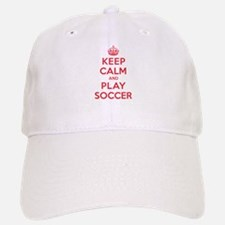 Keep Calm Play Soccer Baseball Baseball Cap
