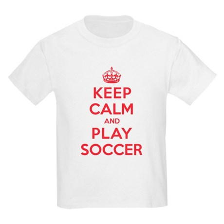 Keep Calm Play Soccer Kids Light T-Shirt