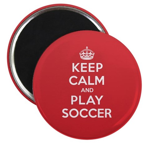 Keep Calm Play Soccer Magnet
