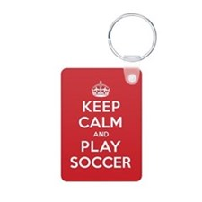 Keep Calm Play Soccer Keychains