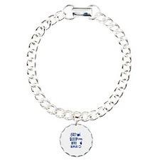 Eat Sleep Dive Charm Bracelet, One Charm