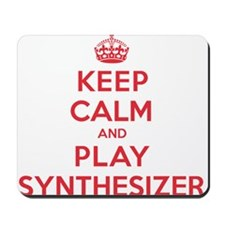 Keep Calm Play Synthesizer Mousepad